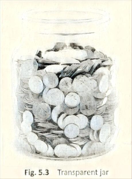 Transparent jar