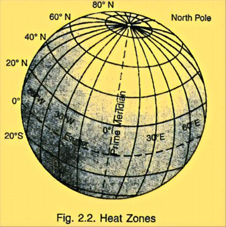 heat zones on the globe